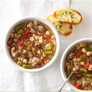 Shortcut Sausage Minestrone Recipe