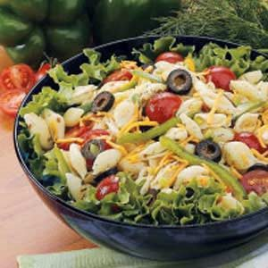Dilly Veggie Pasta Salad Recipe
