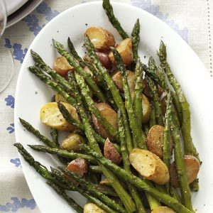Rosemary Roasted Potatoes and Asparagus Recipe