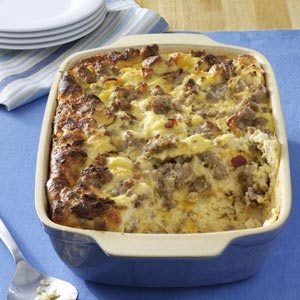 Cheese Sausage Strata