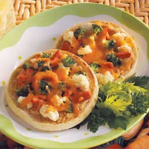 Open-Faced Veggie Sandwiches for Two Recipe