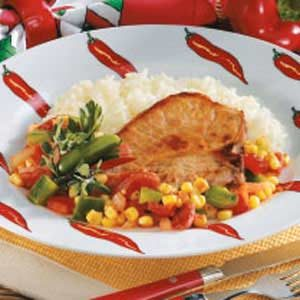 Confetti Pork Chops Recipe