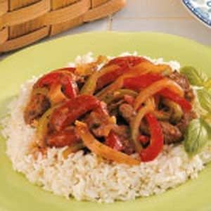 Beef with Sweet Peppers Recipe