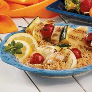 Lemon Chicken Skewers Recipe