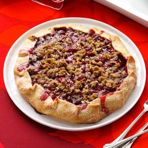 Streusel-Topped Cherry Almond Galette Recipe