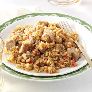 Double-Duty Pork with Spanish Rice Recipe