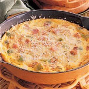 Parmesan Ham Frittata Recipe