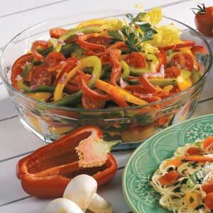 Colorful Pepper Salad Recipe