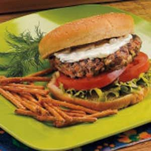 Grilled Burgers with Horseradish Sauce Recipe
