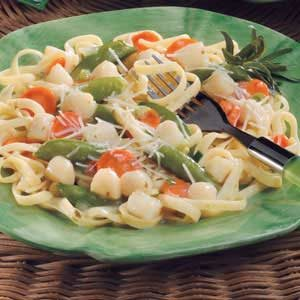 Spicy Scallop Fettuccine Recipe