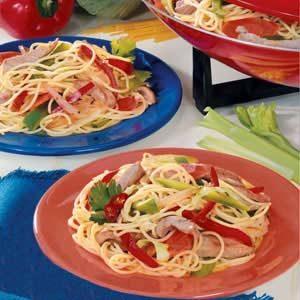 Pork and Cabbage with Spaghetti Recipe