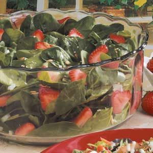 Sunflower Strawberry Spinach Salad Recipe