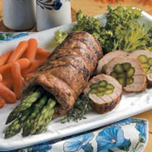 Asparagus-Stuffed Pork Tenderloin