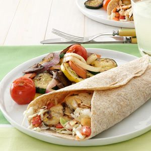 Coleslaw Chicken Wraps Recipe