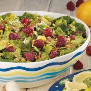 Salad with Raspberry Vinaigrette Recipe