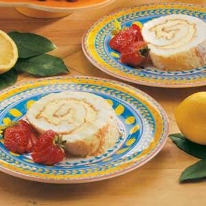 Lemon Angel Cake Roll Recipe