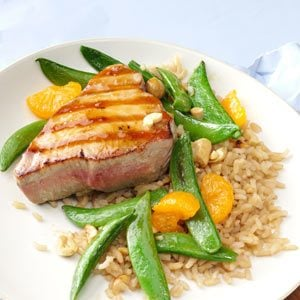 Grilled Sesame Orange Tuna Steaks Recipe