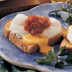 Zesty Poached Eggs Recipe