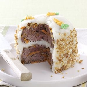 Meat Loaf Cake for Two