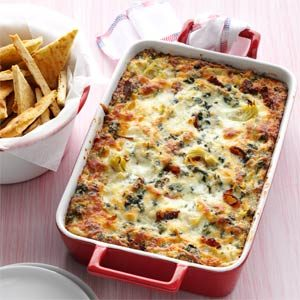 Hot Collards and Artichoke Dip Recipe