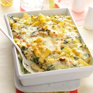 Creamy Spinach & Rigatoni Bake Recipe