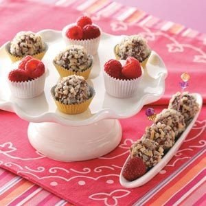 Raspberry Fudge Balls