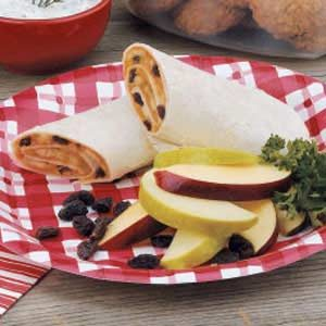 Banana Raisin Wraps