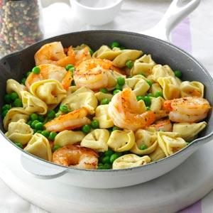 Shrimp Tortellini Pasta Toss Recipe