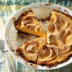 Pumpkin Gingersnap Ice Cream Pie Recipe