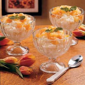 Apricot Rice Custard Recipe