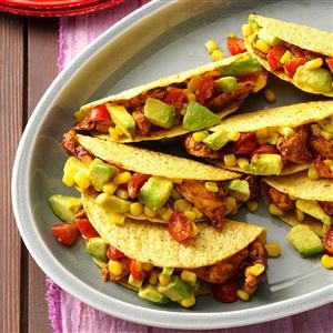 Chicken Tacos with Avocado Salsa Recipe