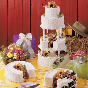 Horseshoe-Layer Wedding Cake Recipe
