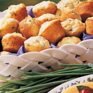 Chive Mini Muffins Recipe