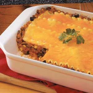 Meaty Chili Lasagna Recipe