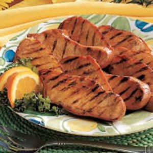 Barbecued Turkey Slices
