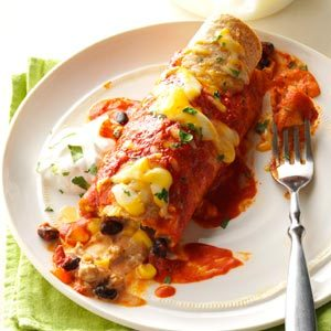 Black Bean Turkey Enchiladas
