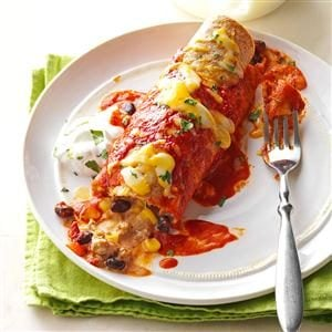 Black Bean Turkey Enchiladas Recipe