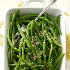 Garlic-Sesame Green Beans Recipe