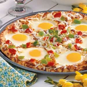 Sunny-Side-Up Pizza Recipe