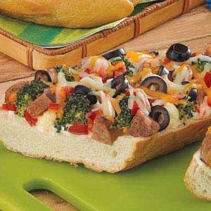Sausage French Bread Pizza Recipe