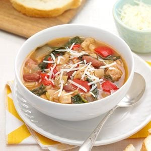 Herbed Chicken & Spinach Soup Recipe