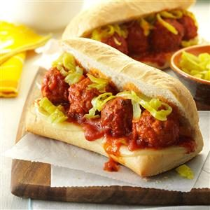 Slow Cooker Meatball Sandwiches Recipe