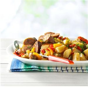 Sausage with Jalapeno Potatoes Recipe