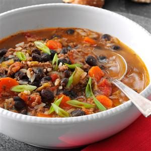 Beef 'n' Black Bean Soup Recipe