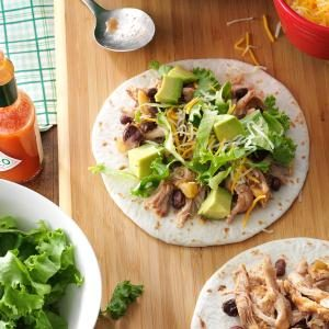 Slow Cooker Chicken & Black Bean Tacos Recipe