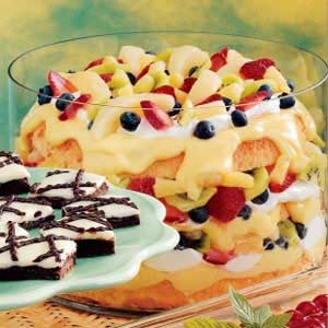Fruity Angel Food Trifle Recipe