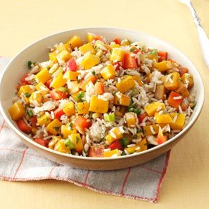 Roasted Butternut Squash & Rice Salad Recipe
