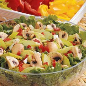 Mushroom Pimiento Salad Recipe