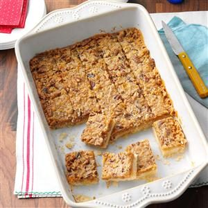 Toffee Pecan Bars Recipe