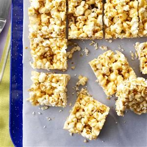 Peanut Butter Popcorn Bars Recipe